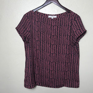 Ann Taylor Loft Blouse Top Short Sleeve